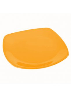 Keramický tanier plytký 26 cm - oranžová