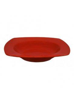 Keramický tanier hlboký 21 cm - červená