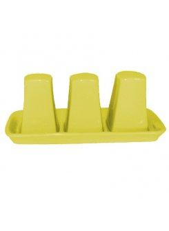 Keramická dochucovacia súprava 3 dielna - žltá
