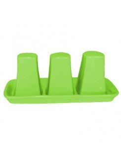 Keramická dochucovacia súprava 3 dielna - zelená
