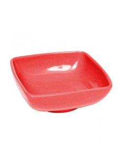 Keramická kompótová miska 11 cm - červená