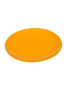 Keramický tanier plytký 27,5 cm - oranžová