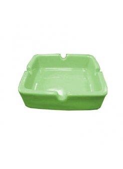Keramický popolník 88x88 mm - zelená