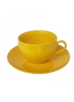 Šálka s podšálkou Color 250ml - žltá