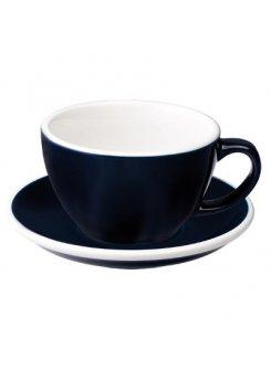 Šálka s podšálkou Egg Café Latte 300ml - denim (tmavá modrá)