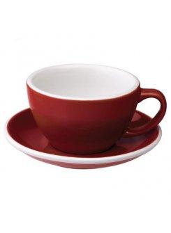 Šálka s podšálkou Egg Café Latte 300ml - red (červená)