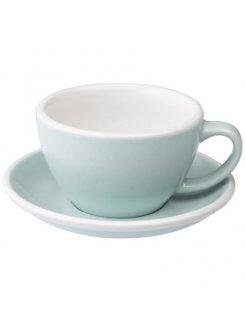 Šálka s podšálkou Egg Café Latte 300ml - river blue