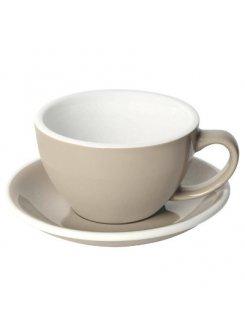 Šálka s podšálkou Egg Café Latte 300ml - taupe (tmavošedá)