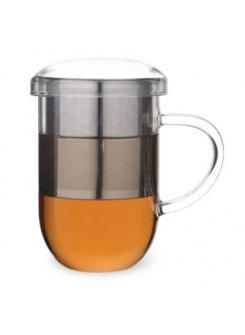 Hrnček so sitkom a vrchnákom Pro Tea 450ml