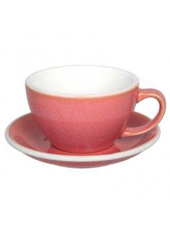 Šálka s podšálkou Egg Café Latte 300ml - berry