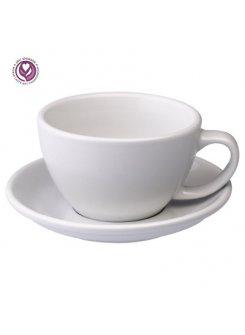 Šálka s podšálkou Egg Café Latte 300ml - biela