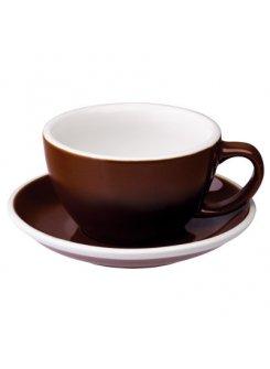 Šálka s podšálkou Egg Café Latte 300ml - brown (hnedá)