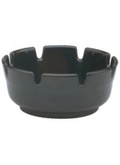 Plastový popolník (10 cm) - čierna