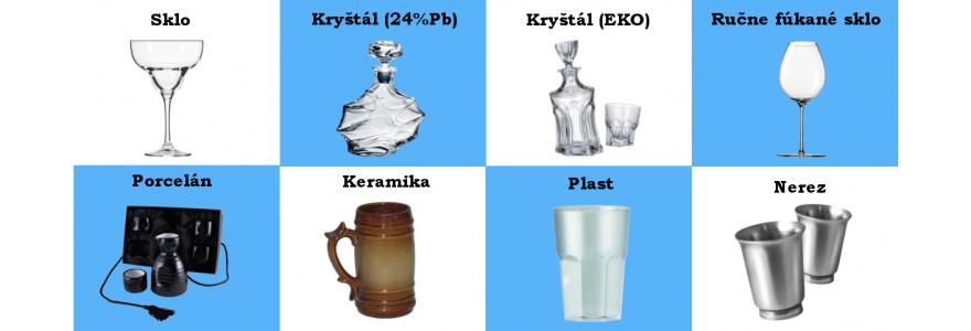 Podľa typu skla